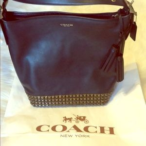 NWT Gorgeous Coach Leather Studded Duffle